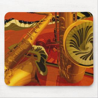 Piano de las pinturas de la música, guitarra eléct alfombrillas de ratón
