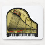 Piano de piano de media cola Mousepad Tapetes De Ratón
