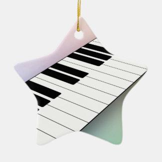 Piano Adorno De Cerámica En Forma De Estrella