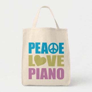 Piano del amor de la paz bolsas