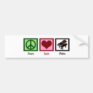 Piano del amor de la paz etiqueta de parachoque