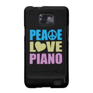 Piano del amor de la paz galaxy SII fundas