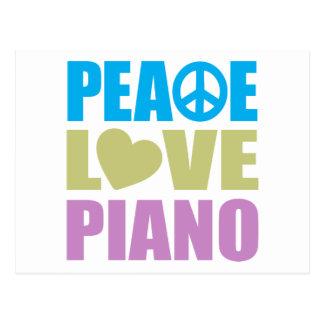 Piano del amor de la paz tarjetas postales