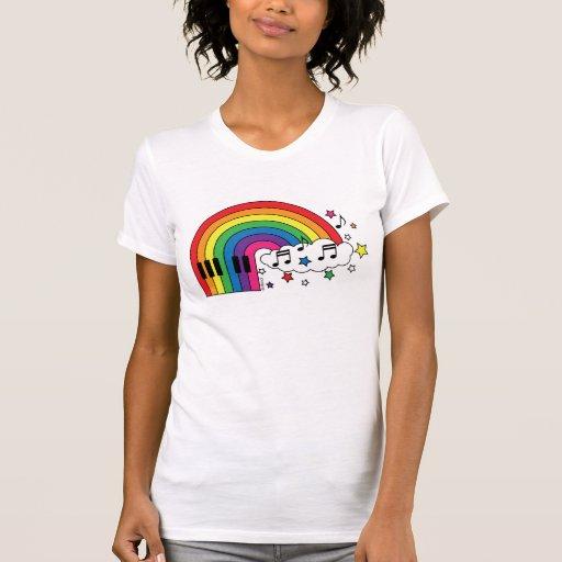 Piano del arco iris playeras