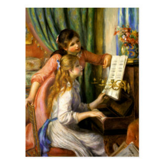 Piano del au de Pierre-Auguste Renoir - de Jeunes Tarjetas Postales