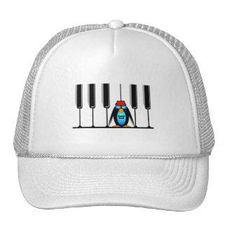 piano del hombre de los azules gorros bordados