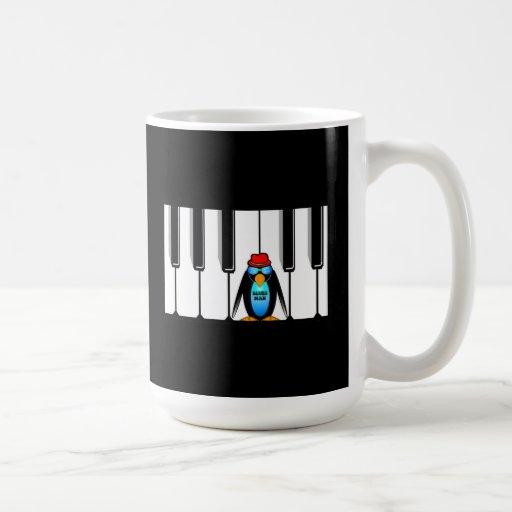 piano del hombre de los azules taza