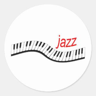 Piano del jazz etiqueta redonda