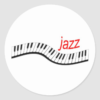 Piano del jazz pegatina redonda