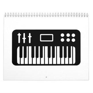 Piano del teclado calendarios de pared