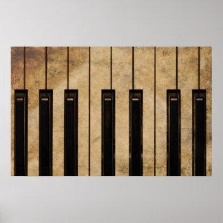 Piano del vintage del Grunge Posters