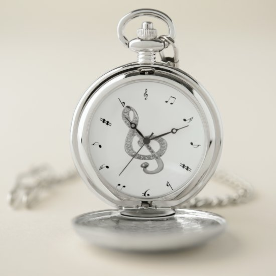 piano design pocket watch