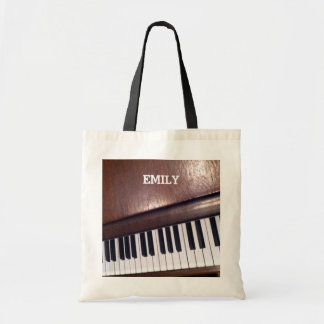 piano design tote bag