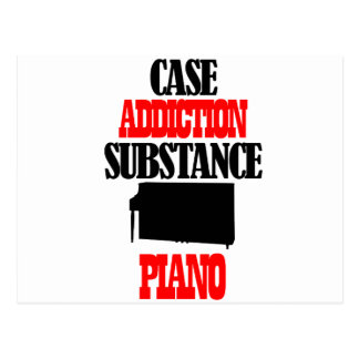 Piano designs postcard