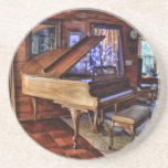 "Piano Drink Coaster<br><div class=""desc"">Painterly photo of a piano</div>"