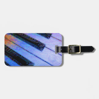 Piano Electric Blue Luggage Tag