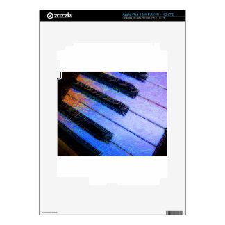 Piano Electric Blue Skins For iPad 3
