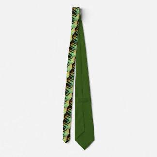 Piano  Electric Green Neck Tie
