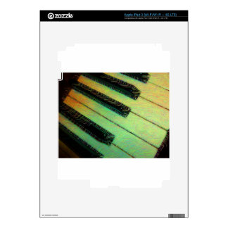 Piano Electric Green Decals For iPad 3