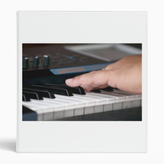 piano electric left hand playing keys music design binder