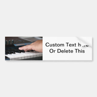 piano electric left hand playing keys music design bumper sticker
