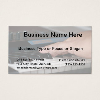 piano electric left hand playing keys music design business card