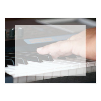 piano electric left hand playing keys music design card