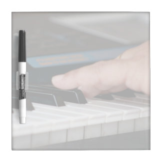 piano electric left hand playing keys music design dry erase board