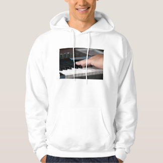 piano electric left hand playing keys music design hoodie