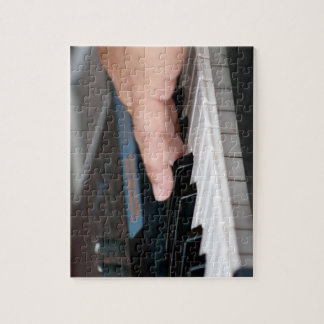 piano electric left hand playing keys music design jigsaw puzzle