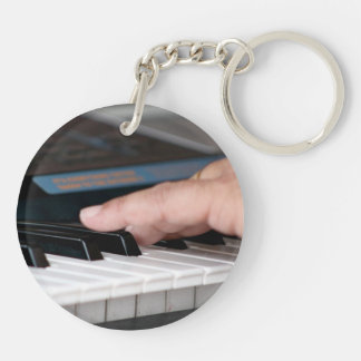 piano electric left hand playing keys music design keychain
