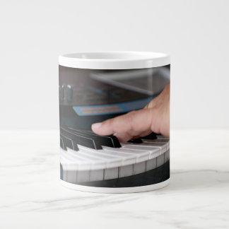 piano electric left hand playing keys music design large coffee mug