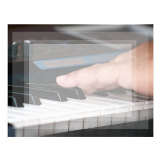 piano electric left hand playing keys music design letterhead