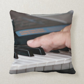 piano electric left hand playing keys music design throw pillow