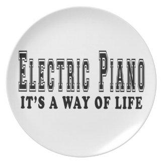 Piano eléctrico es manera de vida platos para fiestas
