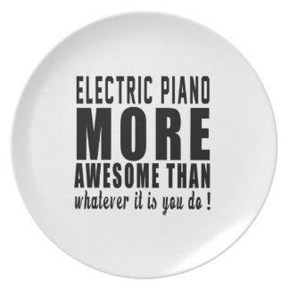 Piano eléctrico más impresionante que lo que es yo platos de comidas