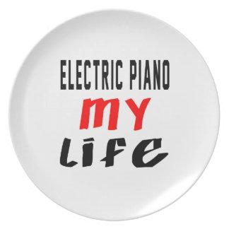 Piano eléctrico mi vida platos
