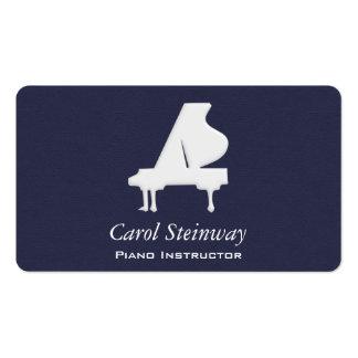 Piano en medianoche tarjetas de visita
