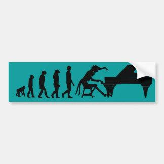 Piano Evolution Bumper Sticker