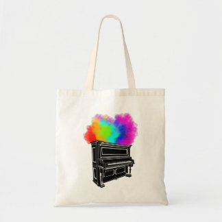 Piano Explosion Of Color Tote Bag