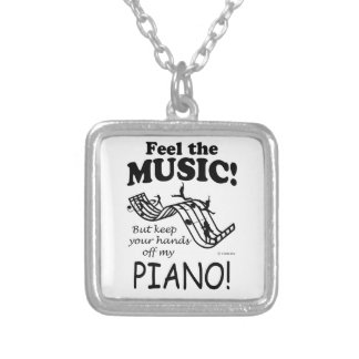 Piano Feel The Music Personalized Necklace