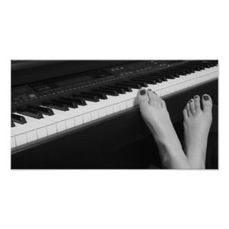 Piano & Feet Poster