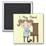 Piano - Female Tshirts and Gifts 2 Inch Square Magnet