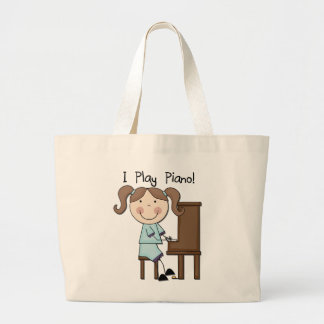 Piano - Female Tshirts and Gifts Large Tote Bag