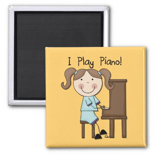 Piano - Female Tshirts and Gifts Refrigerator Magnet