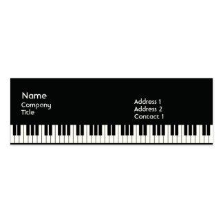 Piano - flaco plantillas de tarjetas de visita