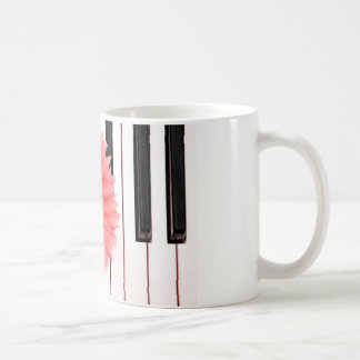 Piano Flower Coffee Mug