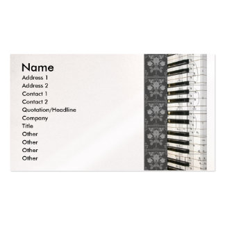 Piano Flowers Keyboard Business Cards