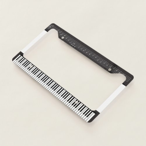 Piano for the Music Lover License Plate Frame