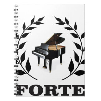 piano forte notebook